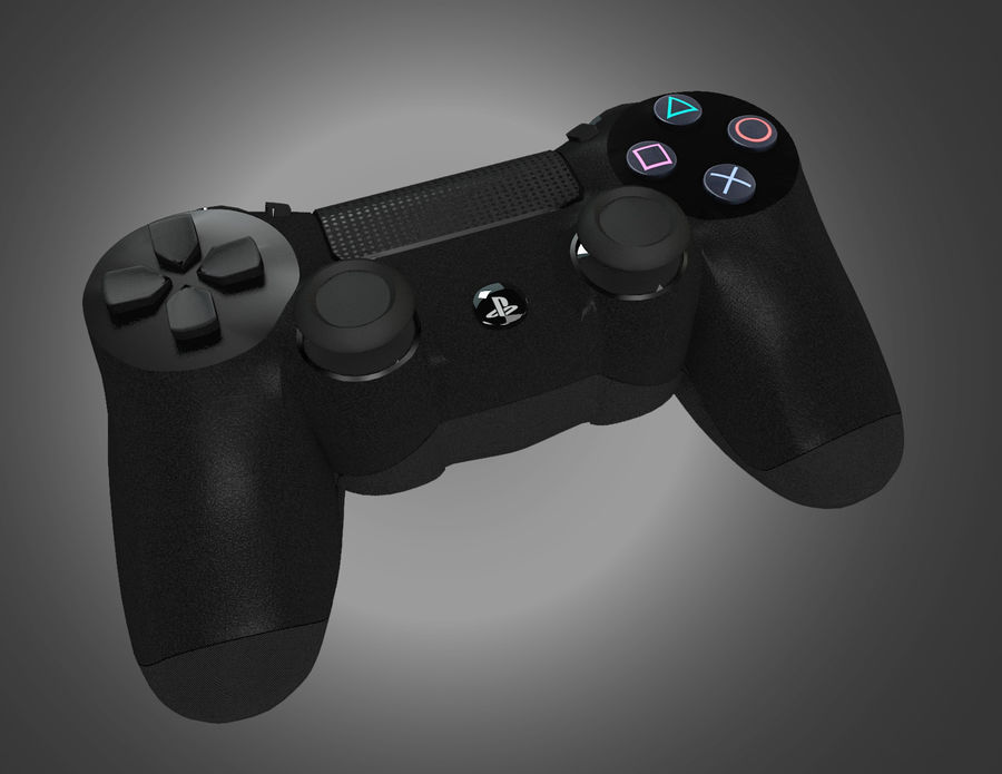 High Res Sony Playstation dualshock 4 controller royalty-free 3d model - Preview no. 3