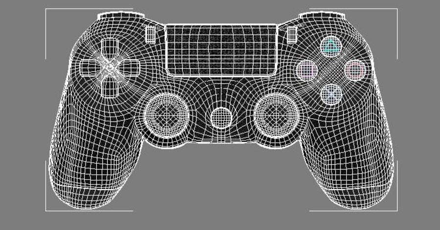 高分辨率Sony Playstation dualshock 4控制器 royalty-free 3d model - Preview no. 1