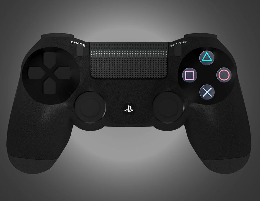 High Res Sony Playstation dualshock 4 controller royalty-free 3d model - Preview no. 4
