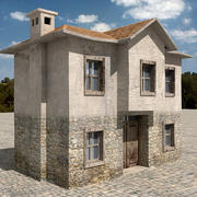 Casa de pueblo 4 modelo 3d