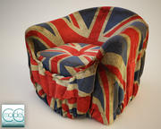 Fabric cover for armchair 3d model