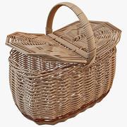 Wicker Basket 2 3d model