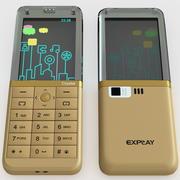 Explay Кристалл Золото 3d model