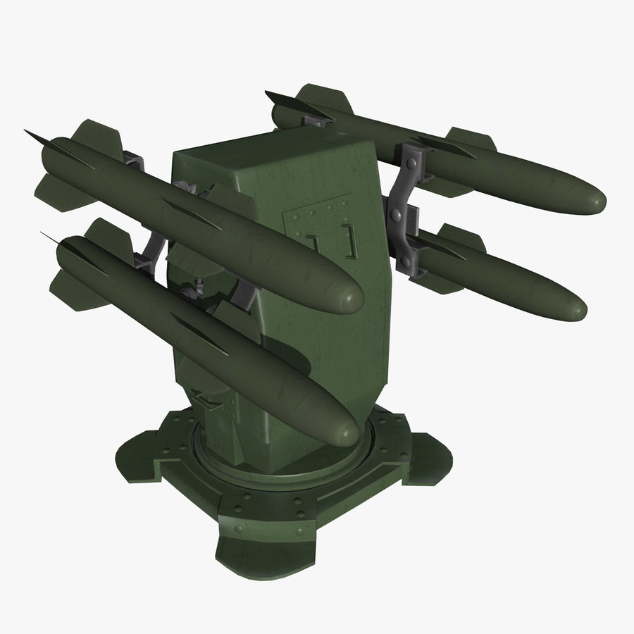 Wyrzutnia rakiet royalty-free 3d model - Preview no. 4