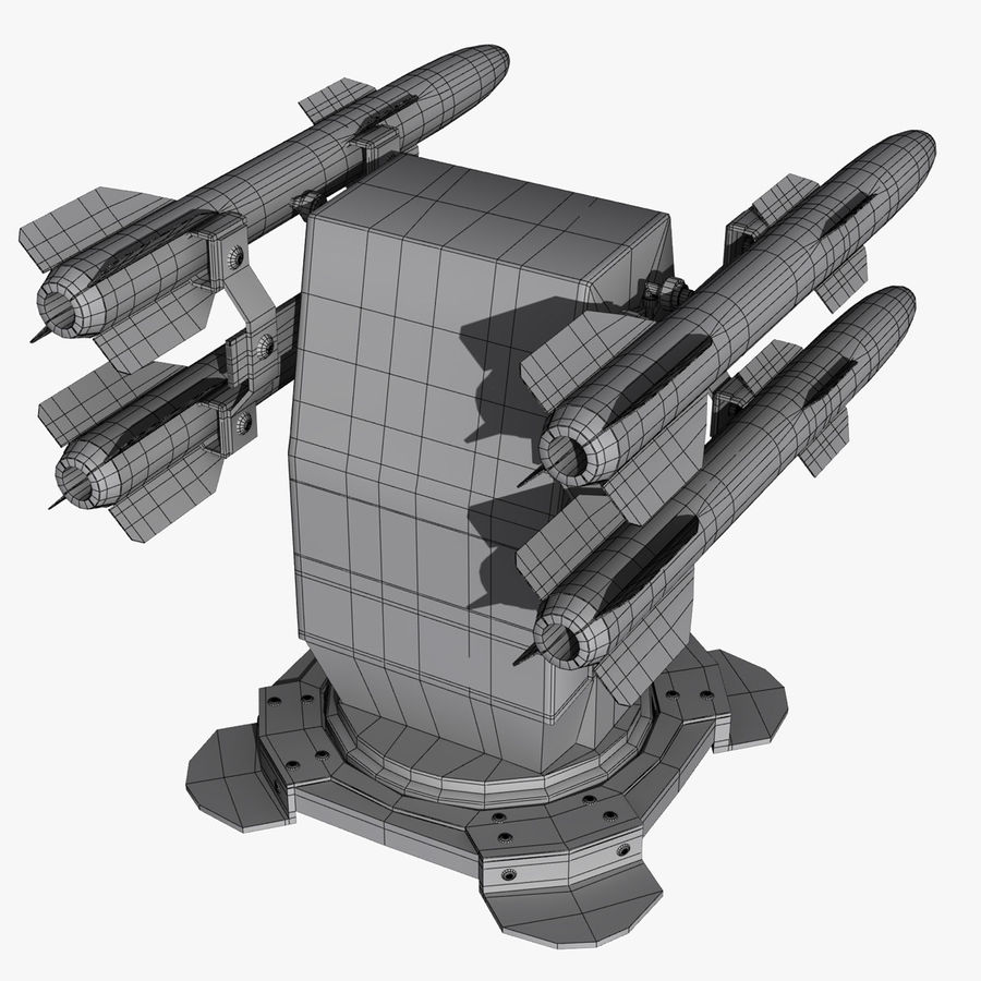 Wyrzutnia rakiet royalty-free 3d model - Preview no. 7