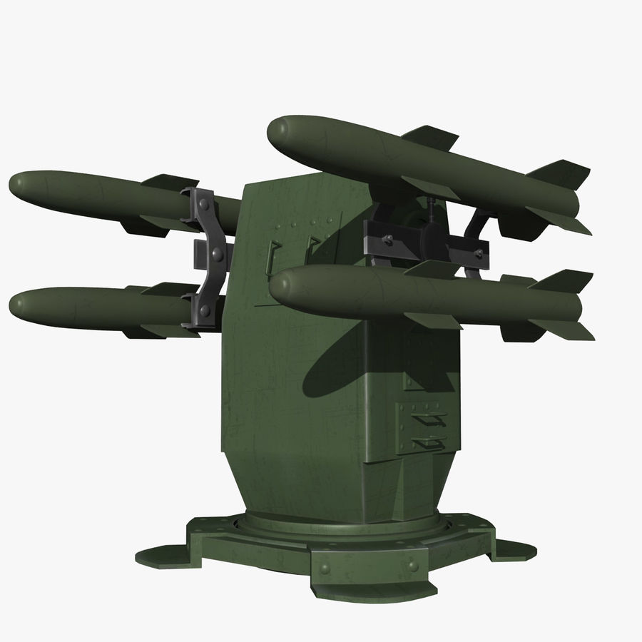 Wyrzutnia rakiet royalty-free 3d model - Preview no. 1