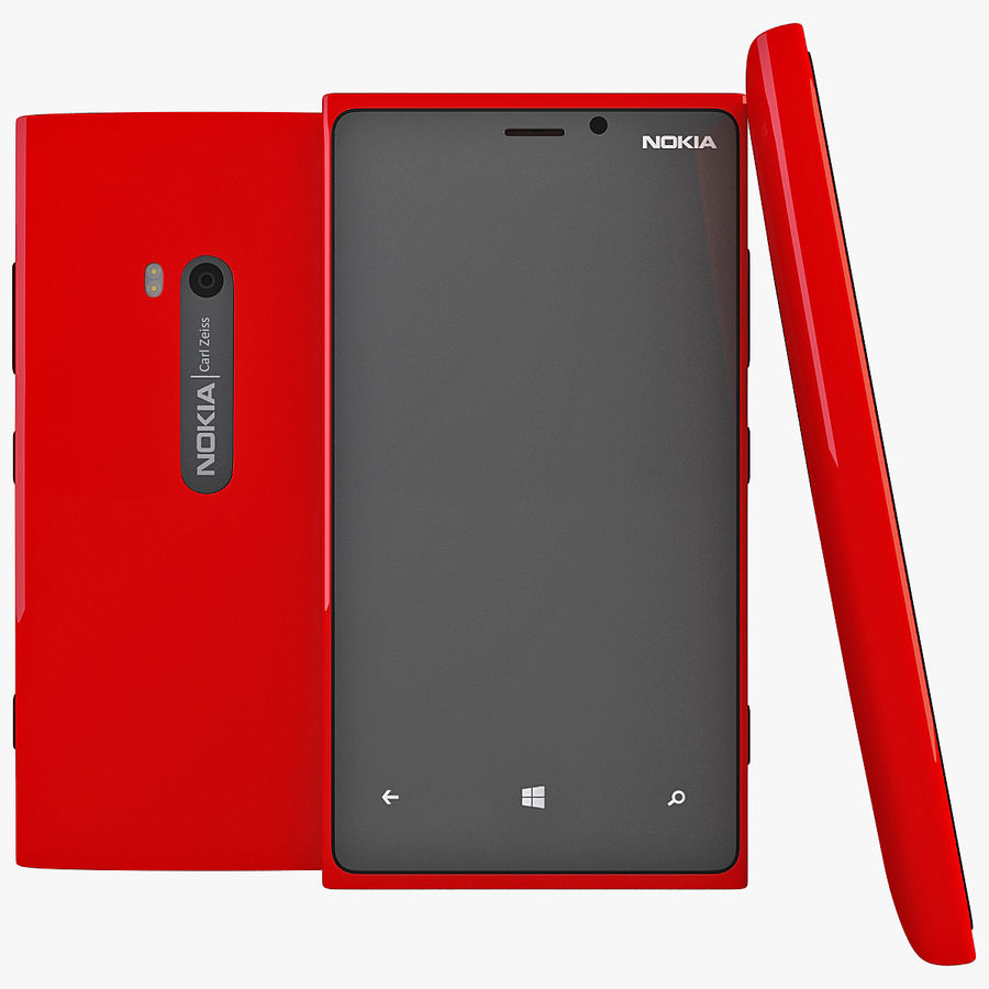 Nokia Lumia 920 Red royalty-free 3d model - Preview no. 1