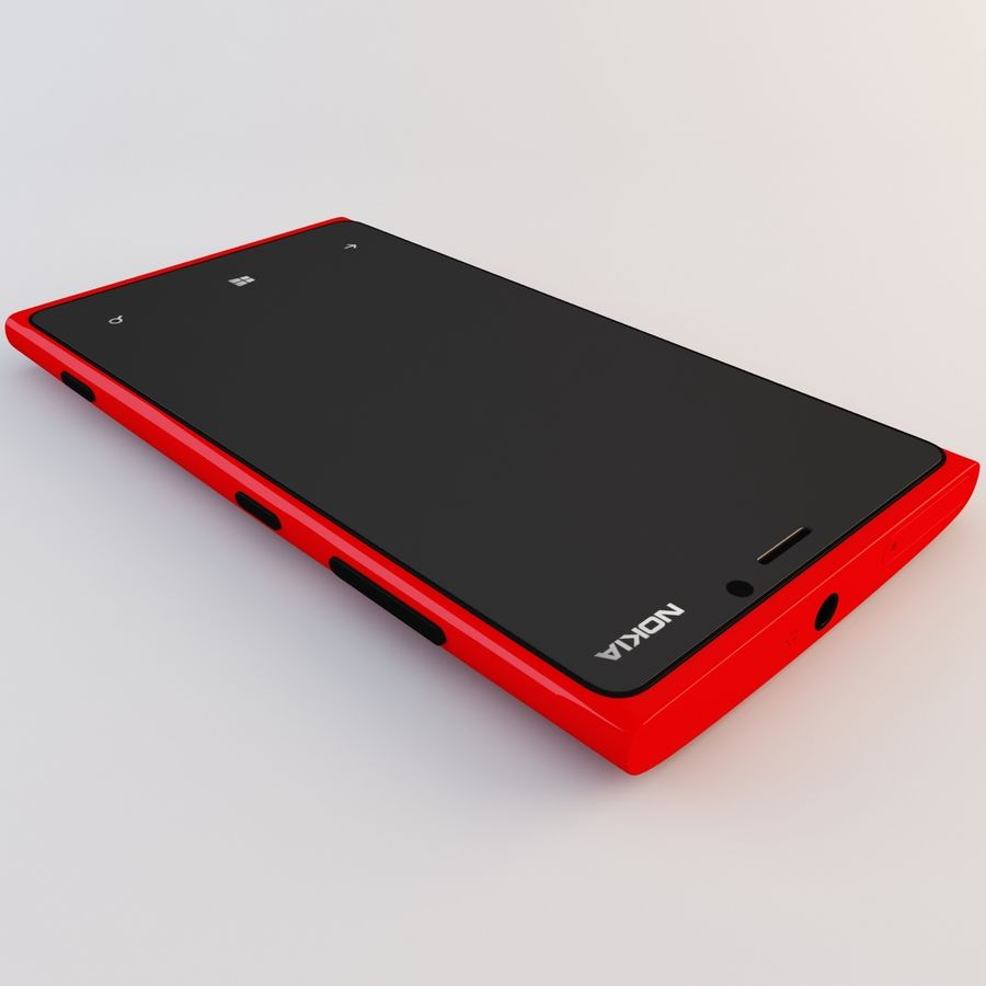 Nokia Lumia 920 Red royalty-free 3d model - Preview no. 15