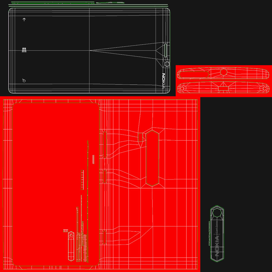 Nokia Lumia 920 Red royalty-free 3d model - Preview no. 32