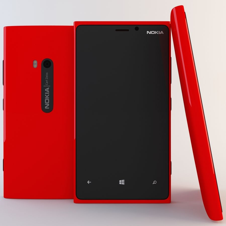 Nokia Lumia 920 Red royalty-free 3d model - Preview no. 2