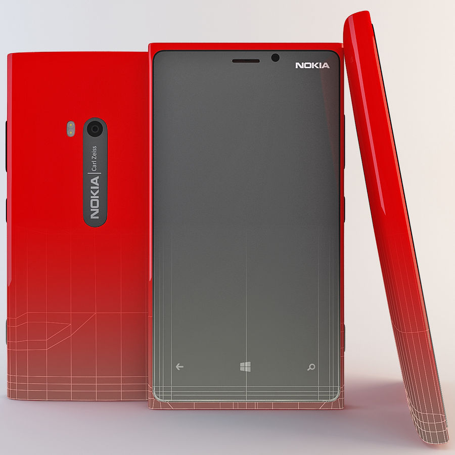 Nokia Lumia 920 Red royalty-free 3d model - Preview no. 3