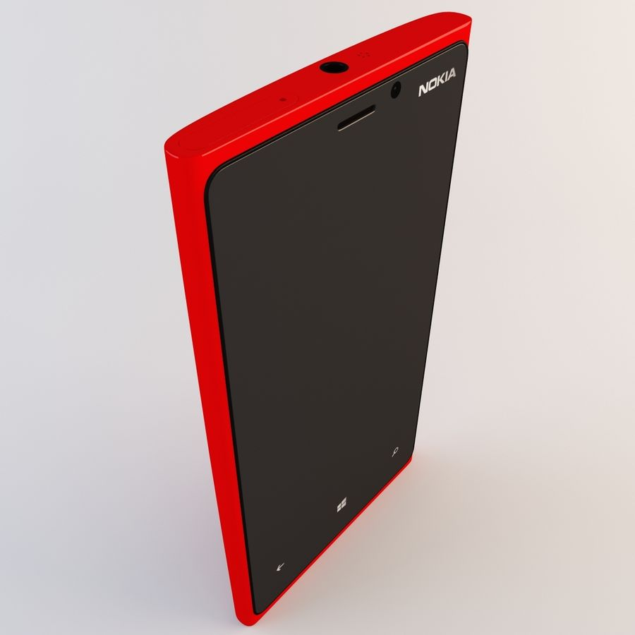Nokia Lumia 920 Red royalty-free 3d model - Preview no. 10
