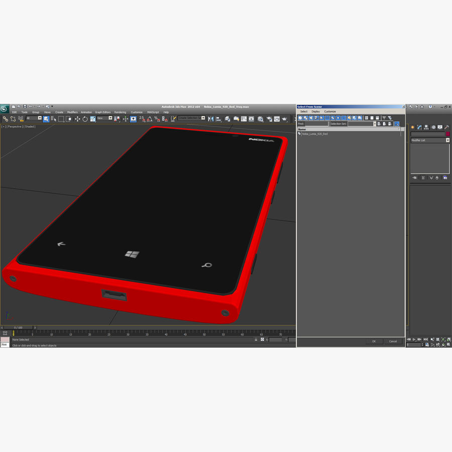 Nokia Lumia 920 Red royalty-free 3d model - Preview no. 17