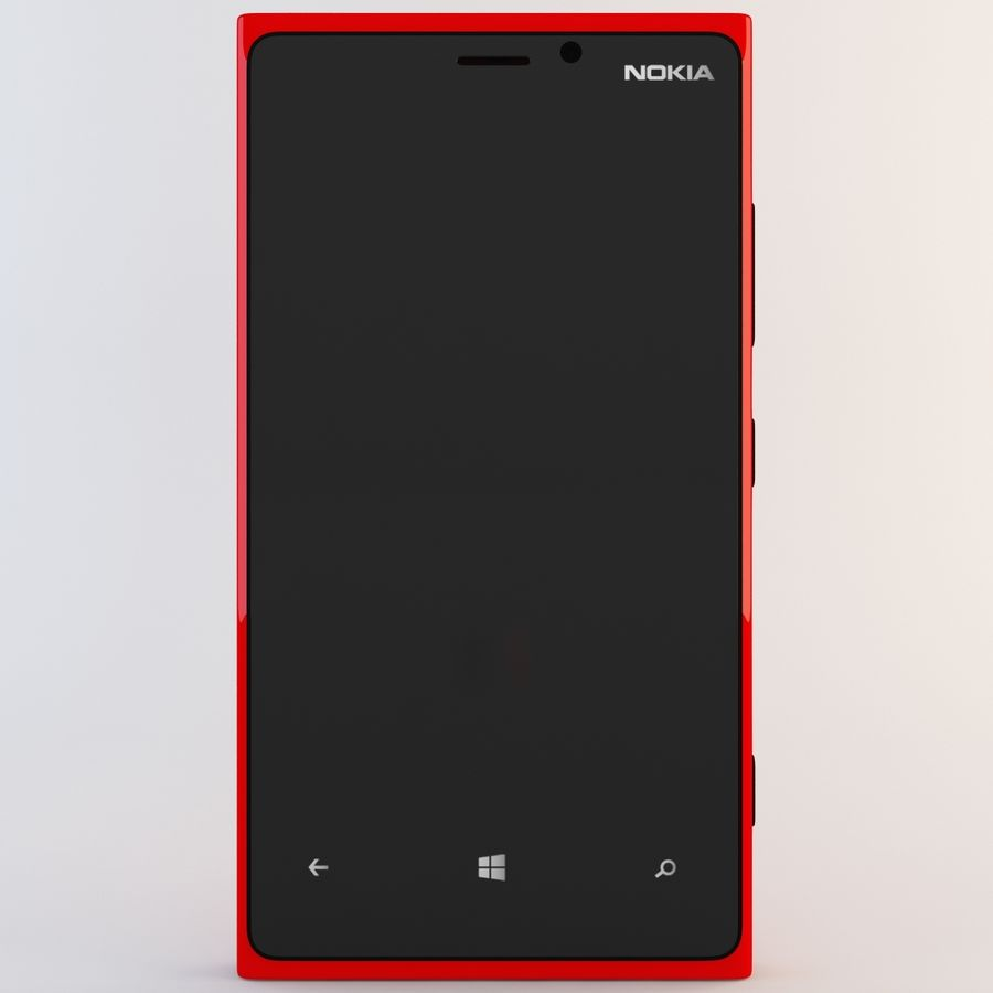 Nokia Lumia 920 Red royalty-free 3d model - Preview no. 4