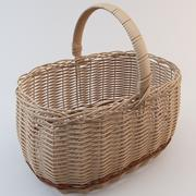 Wicker Basket 3 3d model