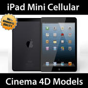 iPad Mini Hücresel Siyah Beyaz C4D 3d model