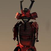Armatura del samurai 3d model