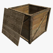 Packing Crate With Lid 3d model