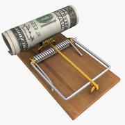 Dolar pułapki na myszy 3d model