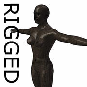 RIGGED Gespierde Black Woman Base Mesh 3d model