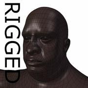 RIGGED肥胖黑人基础网 3d model