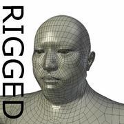 RIGGED肥胖亚洲人基础网 3d model