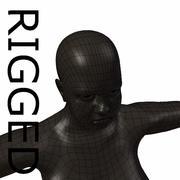 RIGGED肥胖黑人女性基础网 3d model