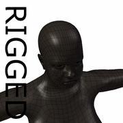 RIGGED Тучная черная женская базовая сетка 3d model