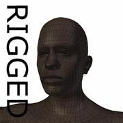RIGGED young black man Base Mesh 3d model