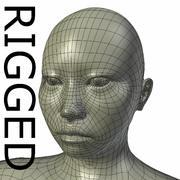 Malha base asiática fêmea RIGGED 3d model