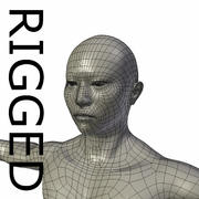 RIGGED Muscular Asian Man Base Mesh 3d model