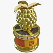 Razzie Award Golden Raspberry 3d model