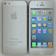 iPhone 5 Branco 3d model