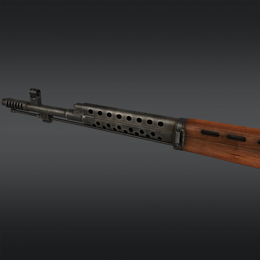 SVT-40 royalty-free 3d model - Preview no. 8