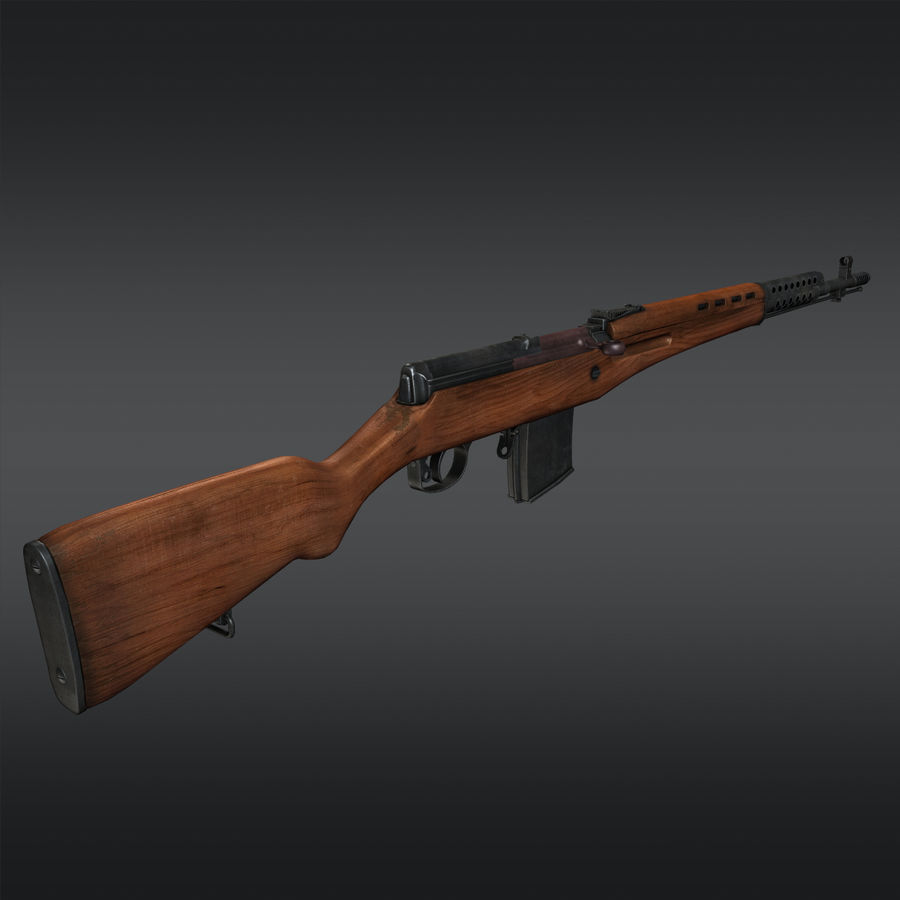 SVT-40 royalty-free 3d model - Preview no. 5