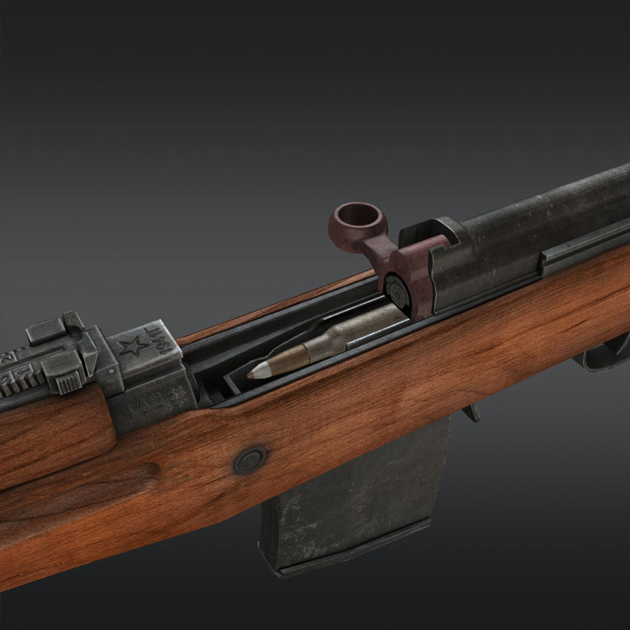 SVT-40 royalty-free 3d model - Preview no. 18