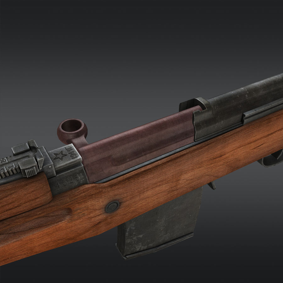 SVT-40 royalty-free 3d model - Preview no. 17