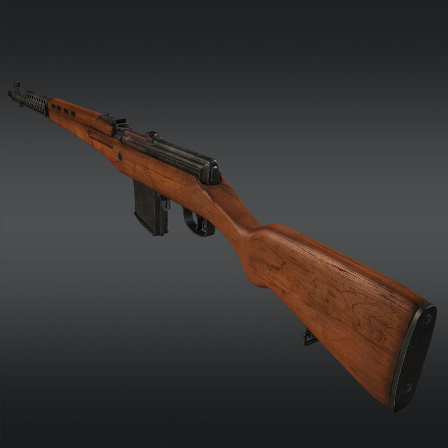 SVT-40 royalty-free 3d model - Preview no. 4