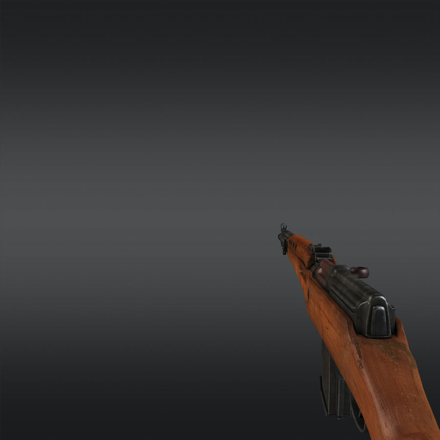 SVT-40 royalty-free 3d model - Preview no. 14