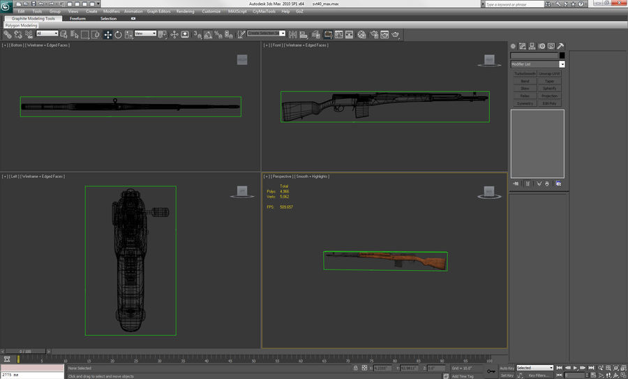 SVT-40 royalty-free 3d model - Preview no. 24