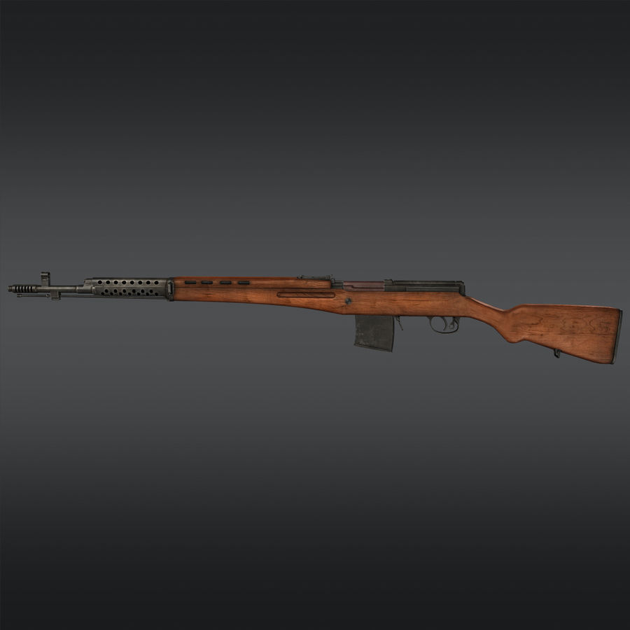 SVT-40 royalty-free 3d model - Preview no. 3