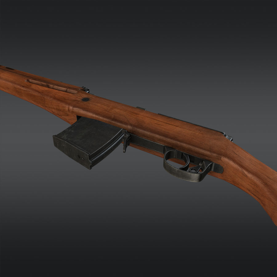 SVT-40 royalty-free 3d model - Preview no. 9