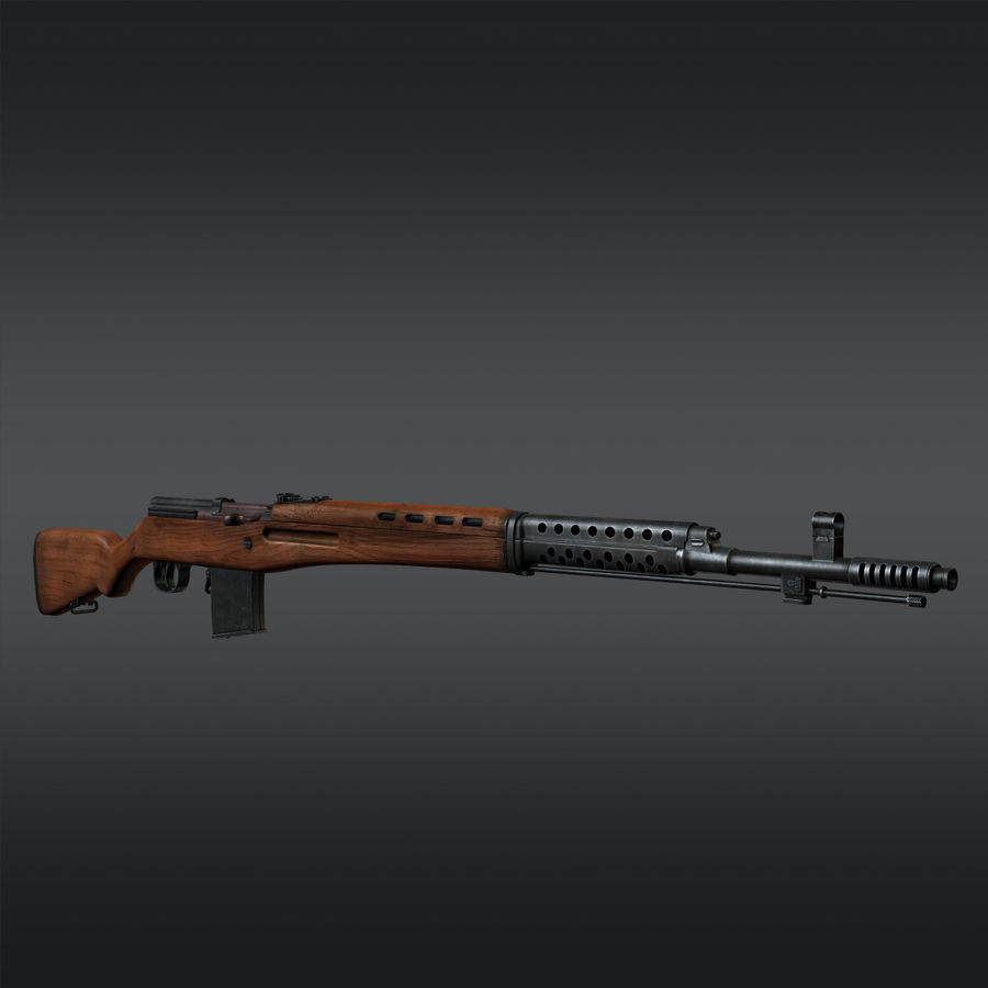 SVT-40 royalty-free 3d model - Preview no. 6