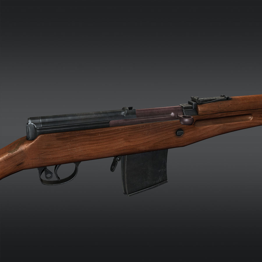 SVT-40 royalty-free 3d model - Preview no. 10