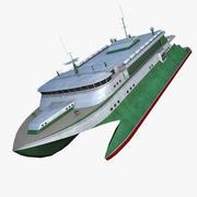 Катамаран 3d model