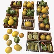 Casse di frutta melone bianco Casse di frutta Negozio di mercato Negozio Convenienza Generi alimentari Dettagli di drogheria Oggetti di scena Fiera Piantagione Giungla Pianta a sud Giardino Serra (2) 3d model