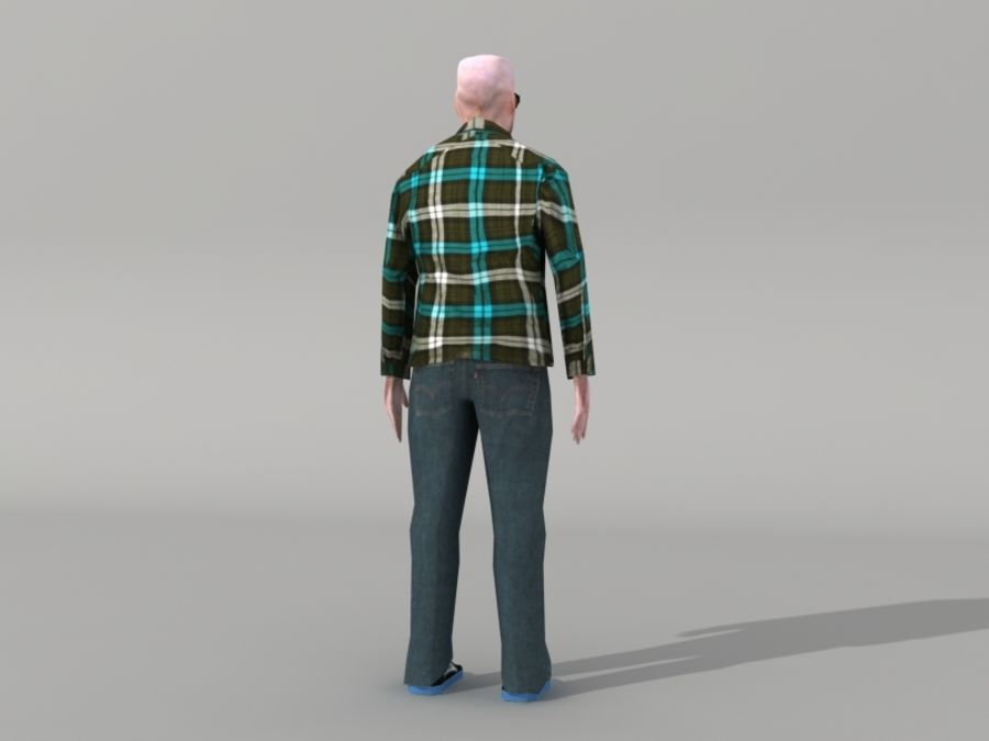 Humains Low Poly (mâles) royalty-free 3d model - Preview no. 17