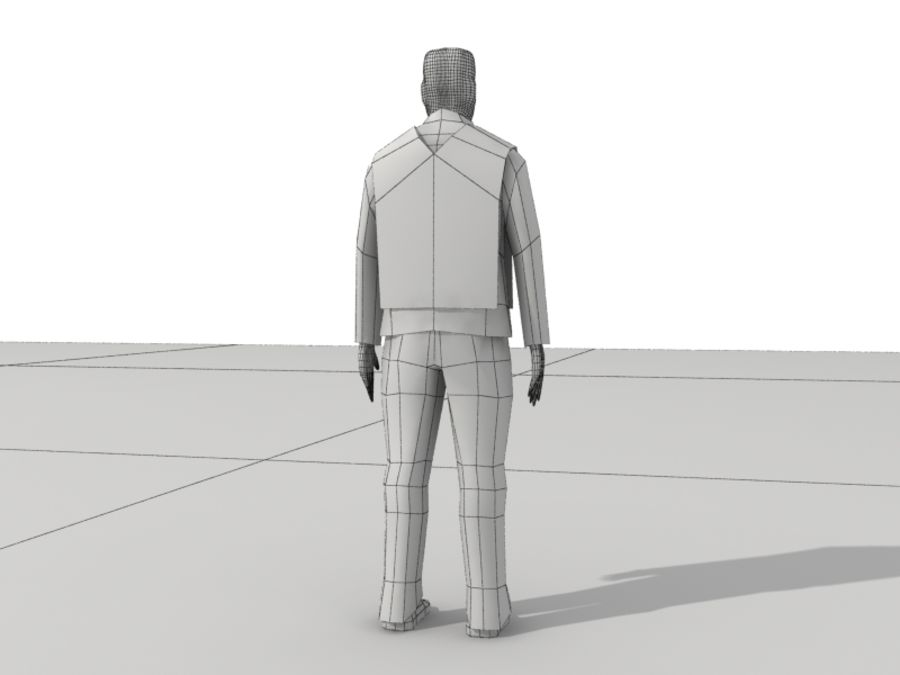 Humains Low Poly (mâles) royalty-free 3d model - Preview no. 27