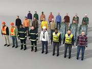 Low Poly Menschen (Männer) 3d model