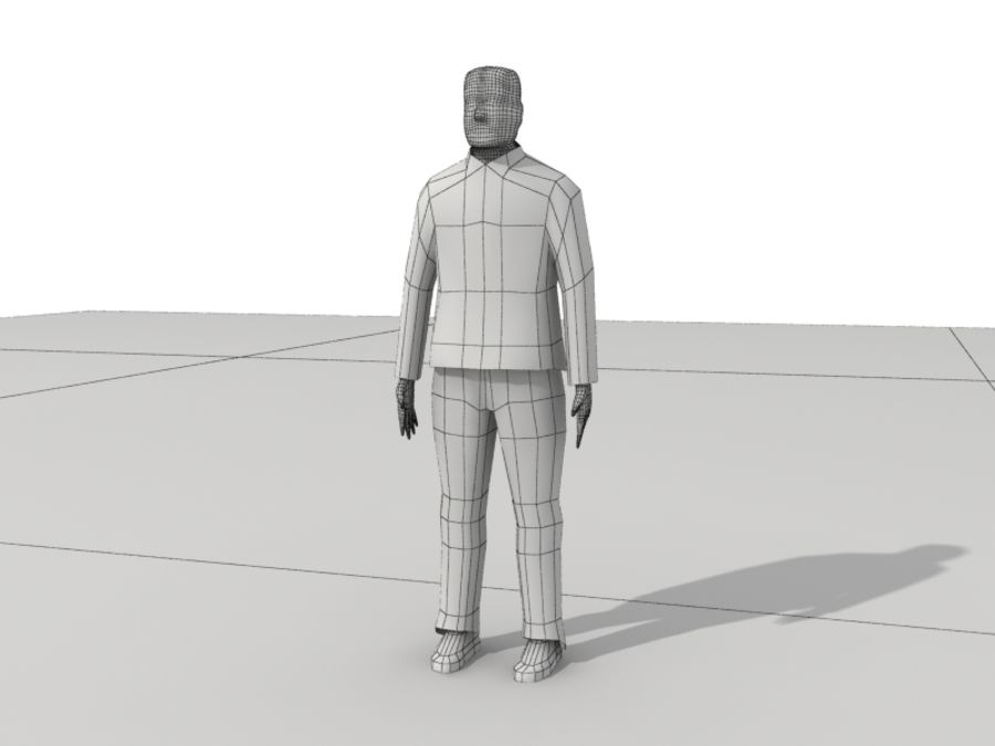 Humains Low Poly (mâles) royalty-free 3d model - Preview no. 22